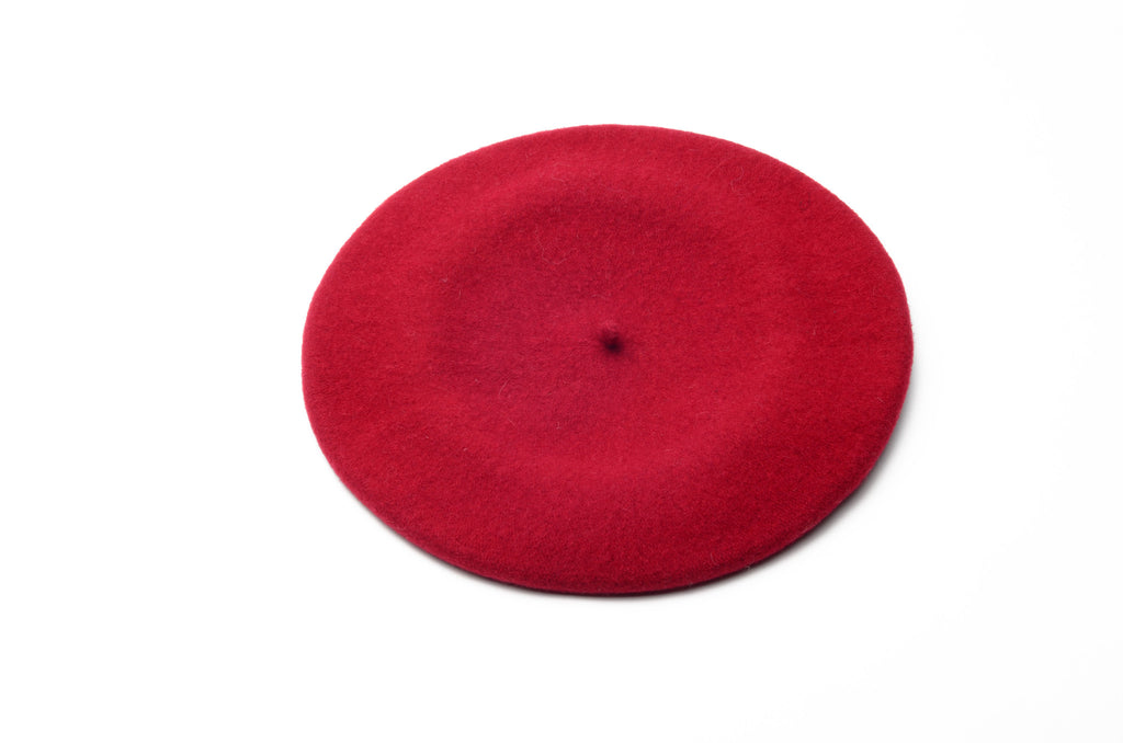 Hat - Red Beret - One Size