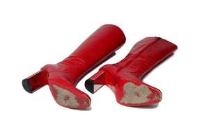 Valentino - Red Knee High Boots - IT 38 1/2