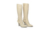 Michel Perry - Cream Knee High Boots - IT 39