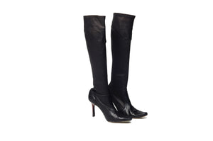 Leder - Black Knee High Boots - US 5 1/2