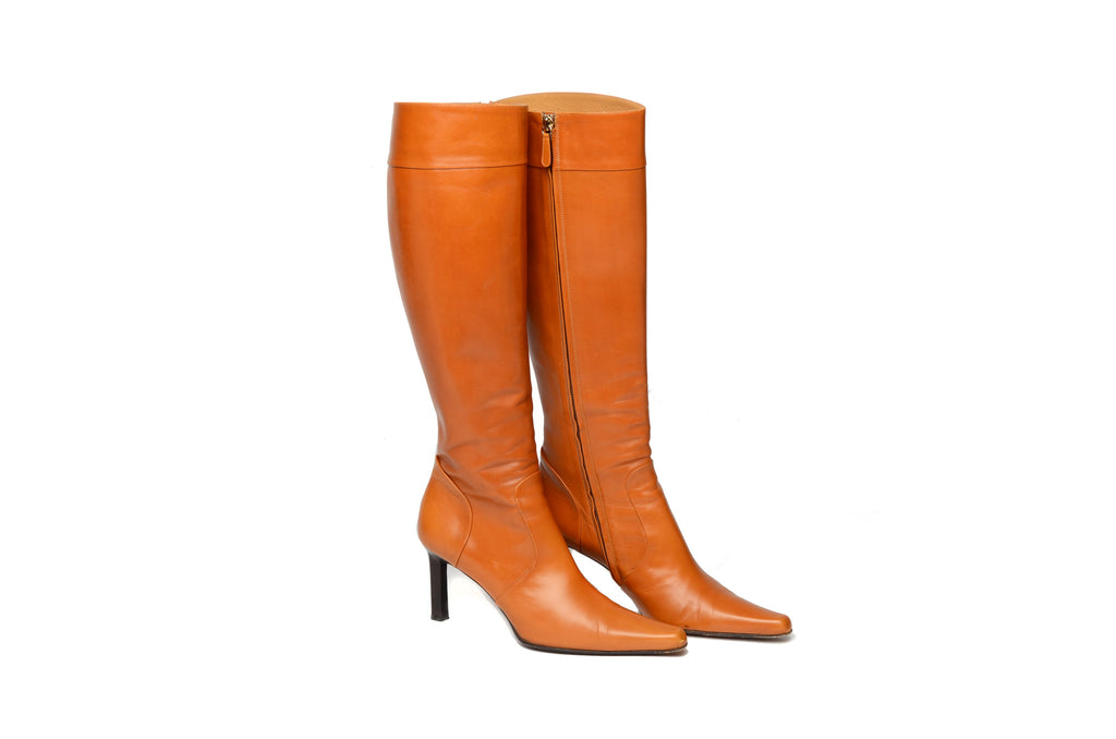 Ralph Lauren - Camel Colored Knee High Boots - US 7 1/2 ...