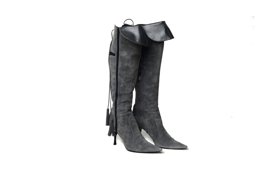 Sergio Rossi - Grey Knee High Boot - IT 38