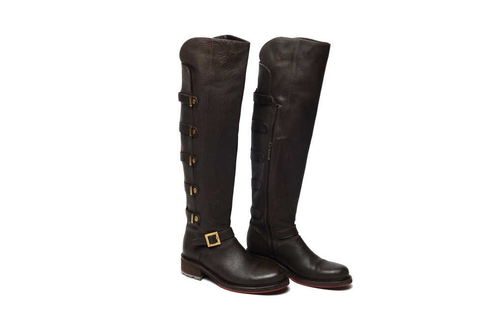 Cesare Paciotti - Brown Leather Knee High Boots - IT 38