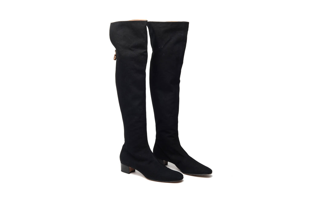 Iconic Tom Ford for Gucci - Black Knee High Fabric Boot - US 7 1/2