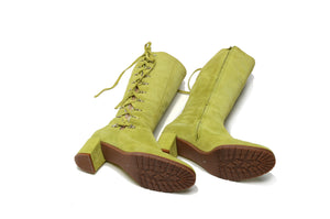Marc Jacobs - Lime Green Suede Knee High Boots - US 8