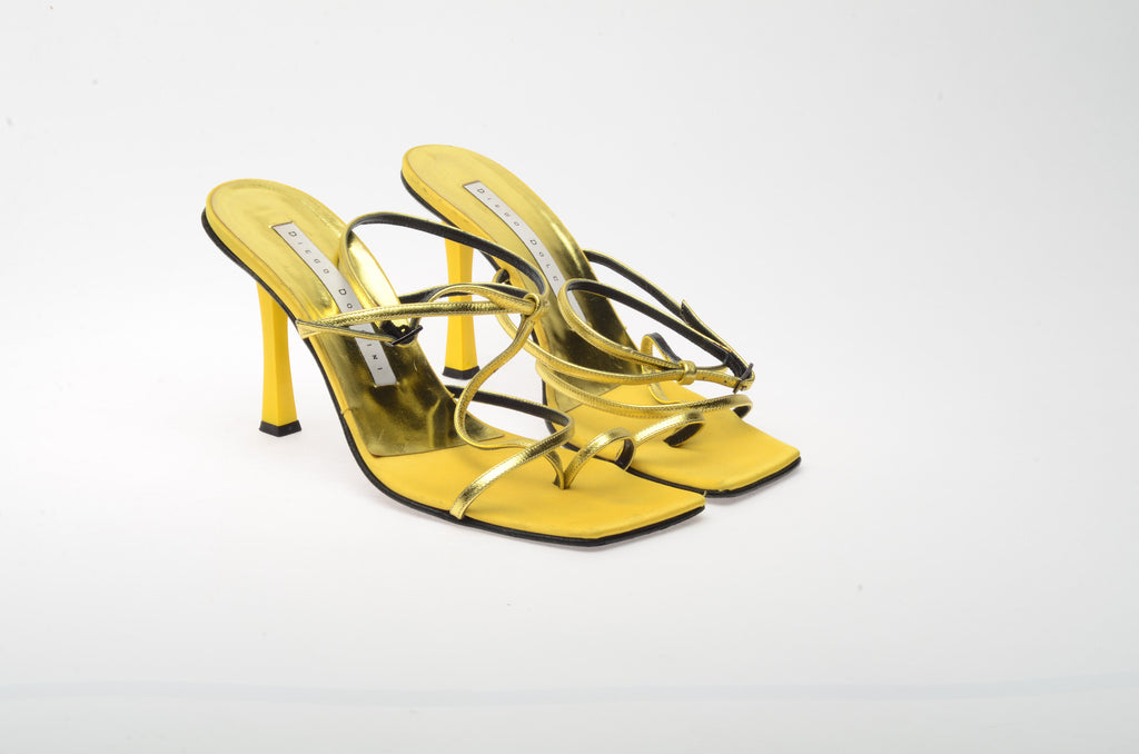 Diego Dolcini - Gold and Yellow Sandals - IT 38
