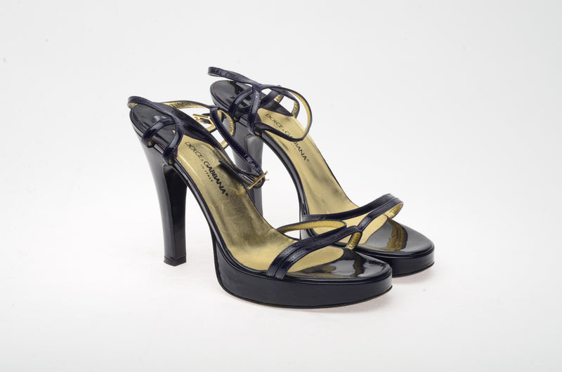 Dolce & Gabbana - Purple Strappy Sandals - IT 38 1/2