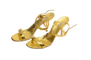 Prada - Gold Sandals - IT 39