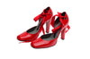 Stella Mccartney - Red Heels with Wrap Around Ankle Straps - IT 38 1/2