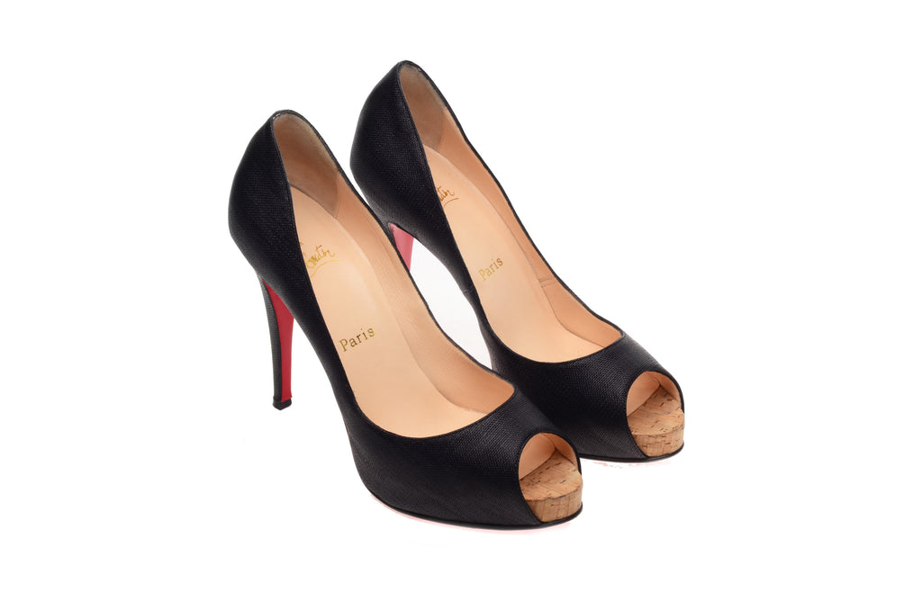 Christian Louboutin - Black Peep Toe Pumps - IT 39 1/2