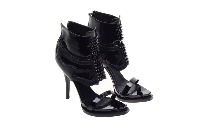 Givenchy - Black Heels with Patent Trim - IT 38 1/2
