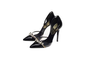 Dsquared2 - As Seen on the 2012 Runway Collection, Look 26 - Black Patent Heels with Rhinestones -