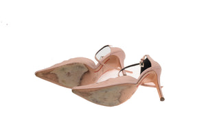 Valentino - Mauve Pointed Toe Heels with Cut Outs and Ankle Strap - IT 38