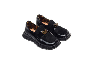 D & G Junior - Girl's Black Patent Dress Shoes  - 24
