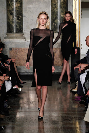 Emilio Pucci - Black Dress with See Through Sleeves - IT 42