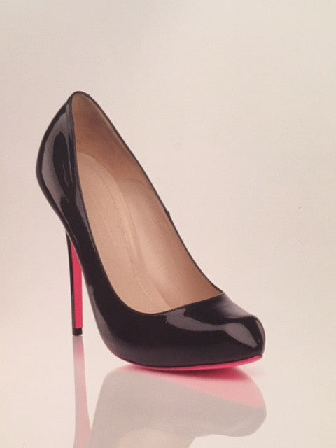 Original Alexander McQueen - Black Heart Shaped Toe High Heels with Pink Sole - IT 38 1/2