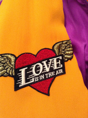 Cheap and Chic by Moschino - Vintage Purple & Yellow Bomber Jacket - IT 42