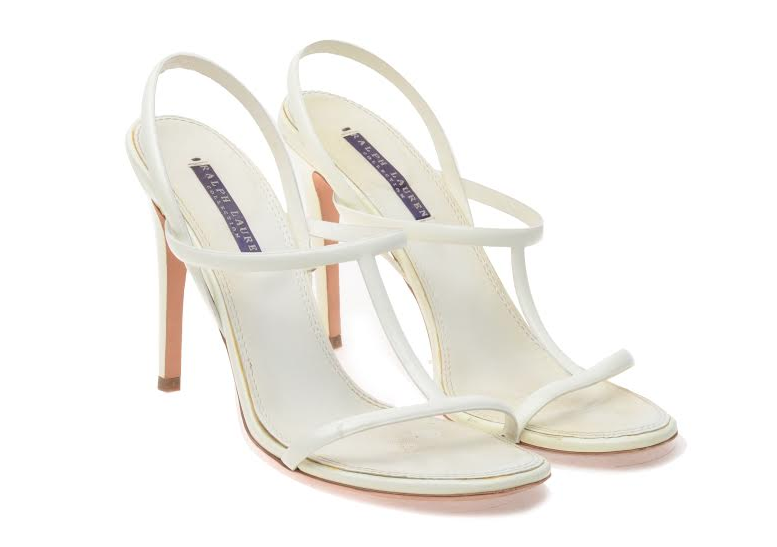 Ralph Lauren - White Strappy Sandals - US 8 1/2