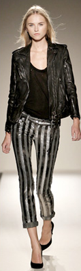 Balmain - Sliver/Black Striped Pants - FR 40