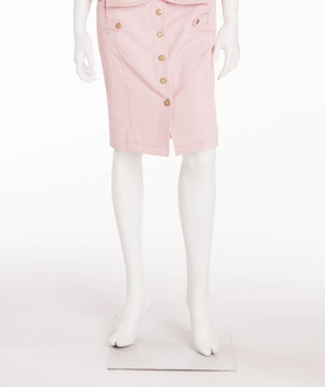 091bcfe37 Versace - Pink Button Up Pencil Skirt - IT 40 – LUXHAVE