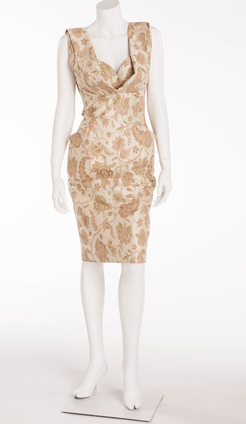 Vivienne Westwood - Ivory, Pink and Tan Sleeveless Dress - IT 42