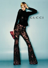 Gucci - Black Long Sleeve Shirt with Flower - IT 40