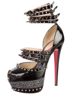 "Collectible Christian Louboutin -New 20 Year Anniversary ""Isolade"" Patent Calf High Heels - 38 1/2"