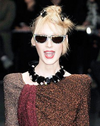 Sonia Rykiel - As Seen on the 2009 Sonia Rykiel Runway Collection - Black Swarovski Front Glasses - One Size