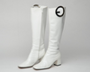 Iconic Tom Ford For Gucci - Rare White Patent Leather Knee High Boots  - US 7 1/2