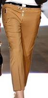 Dsquared2 - From 2012 Fall Runway Collection - Camel Colored Trousers with Gold Zippers - IT 42
