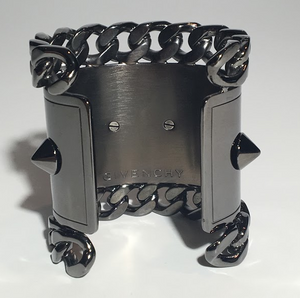 Givenchy - Gun Metal Chain and Stud Cuff - One Size