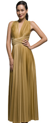 Butter By Nadia - Signature Wrap Bronze Drape Satin Ball Gown - One Size