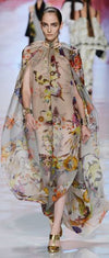 Etro - Butterfly Infinity Sleeve Caftan Dress Nude & Floral - IT 42