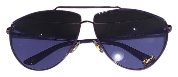 Gucci - Purple Aviator Sunglasses - One Size