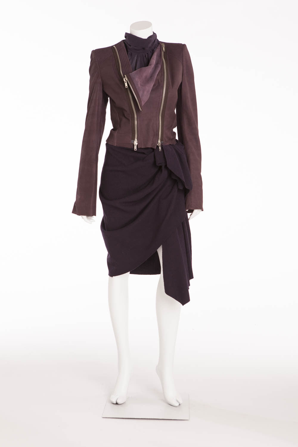 Haider Ackermann - Purple 3pc Blouse, Skirt and Jacket - IT 42