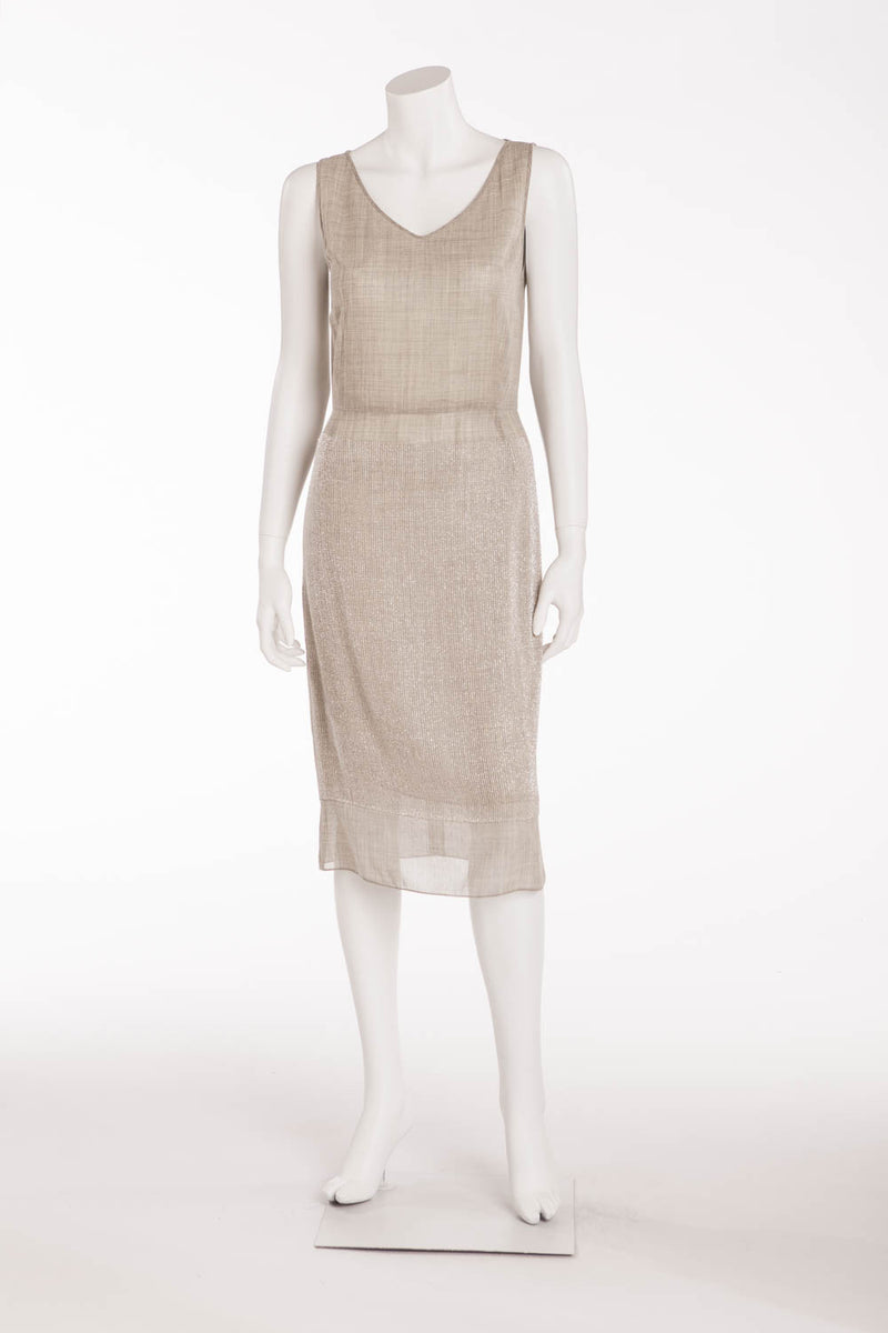 Marc Jacobs - Gray Sleeveless Beaded Long Dress - US 4