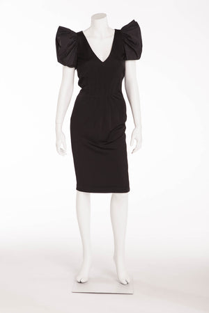 Roberto Cavalli - Black Dress with Puff Sleeves - IT 42