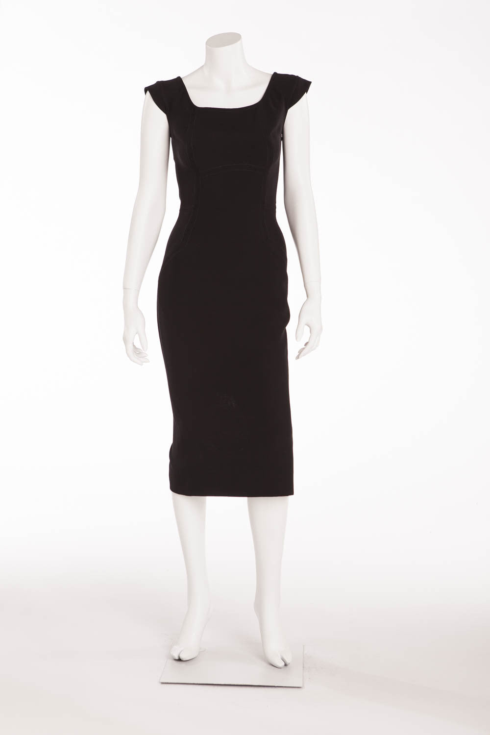 Victoria Beckham - Sleeveless Black Midi Dress - UK 10