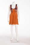 Alberta Ferretti - Orange Chiffon Sleeveless Dress - IT 40