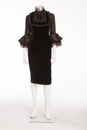Naeem Khan - NWT Brown 3/4 Sleeve Velvet Dress - US 6
