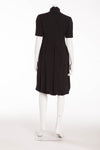 Original Alexander McQueen - Black Short Sleeve High Neck Dress- IT 40