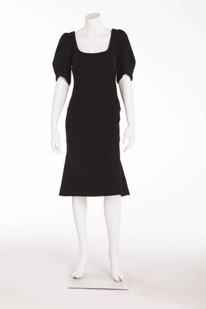 Sonia Rykiel - As Seen on the 2007 Runway Collection - Black Wool Dress - FR 38