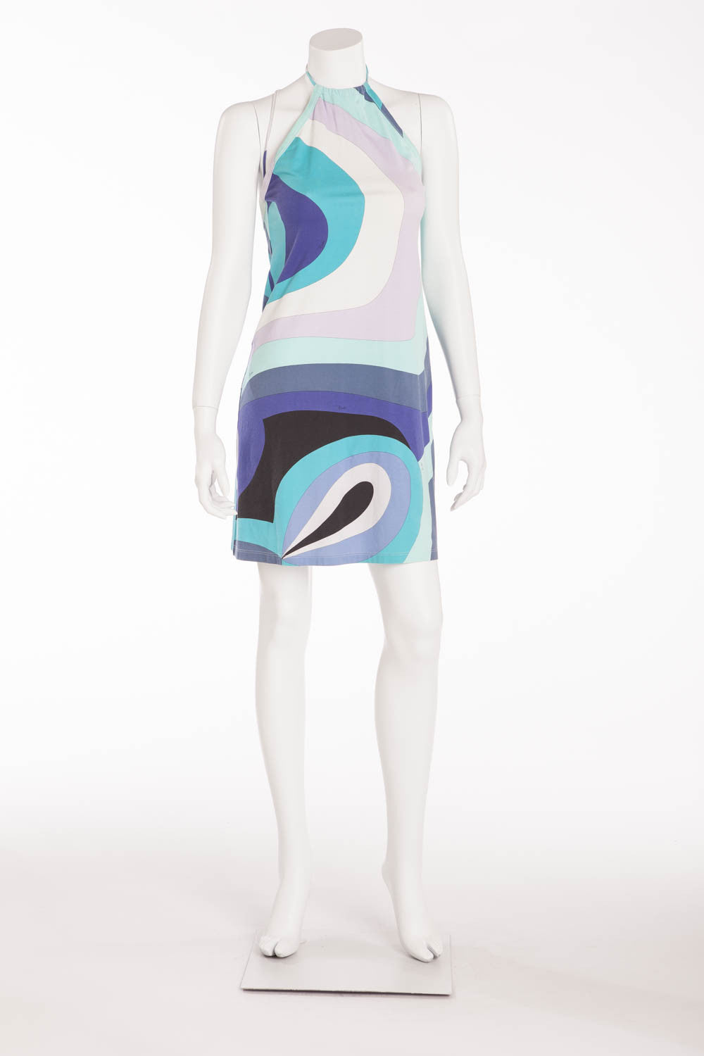 Emillio Pucci - Multi Color Halter Neck Dress