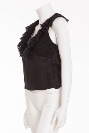 Iconic Tom Ford for Gucci - Black Top with Ruffles - IT 42 - $375
