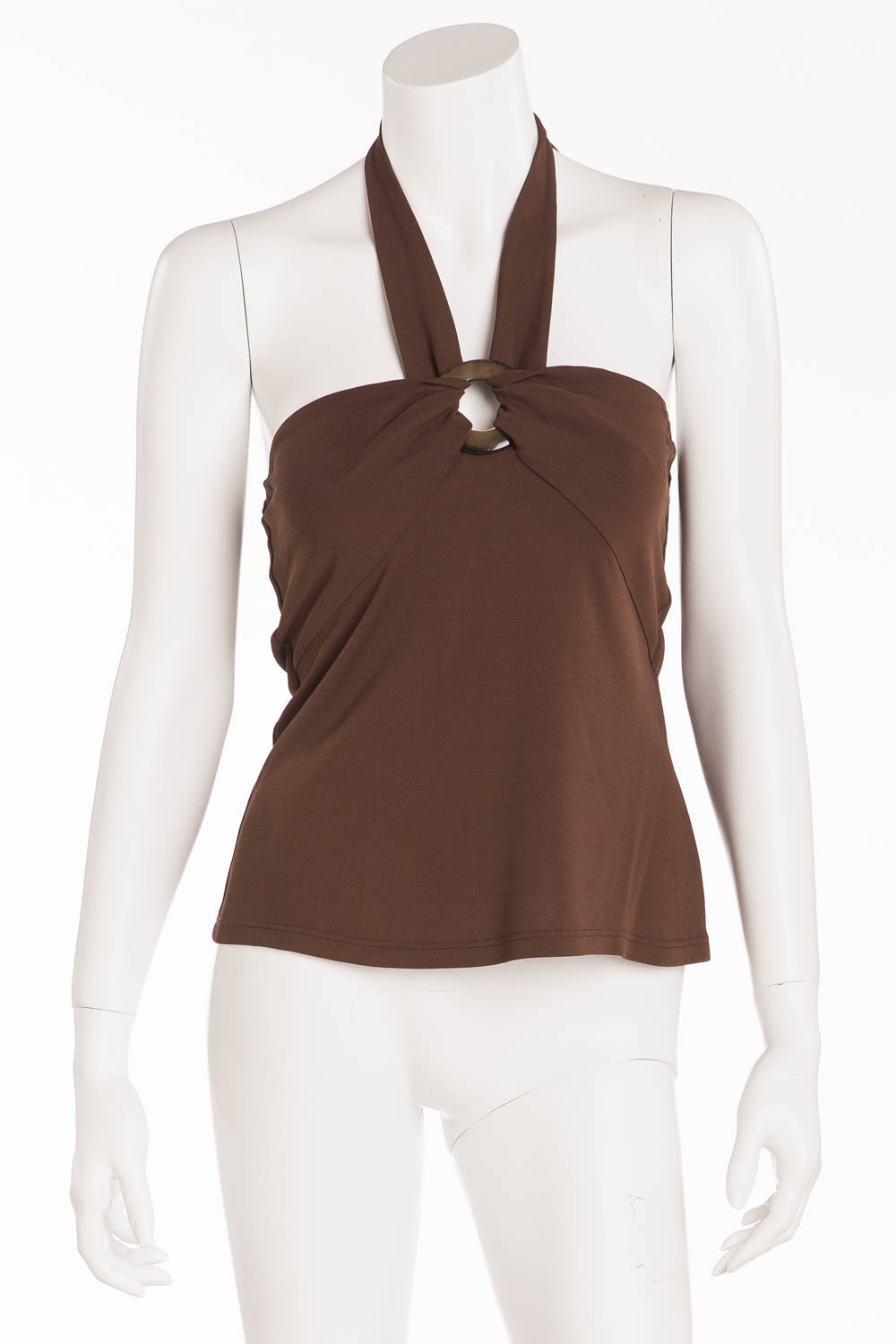 La Perla - Brown Halter Neck Top - IT 44