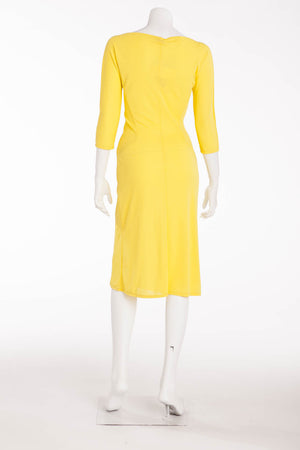 Valentino  - Yellow  3/4 Sleeve Dress - IT 40