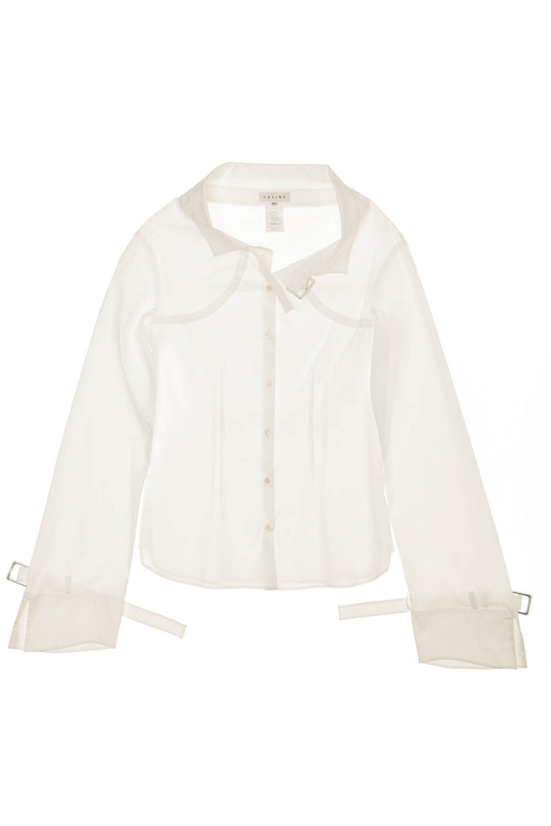 Celine - White Cotton Blouse - FR 38