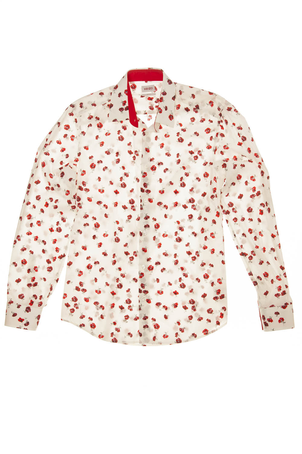Kenzo - White Blouse with Red Flowers - IT 39 - $250