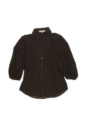 Anne Fontaine - Black Button Down Blouse - FR 40