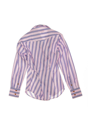 Vivienne Westwood Red Label - Pink and Lavender Striped Blouse - IT 40